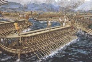 Athens- trireme warfare
