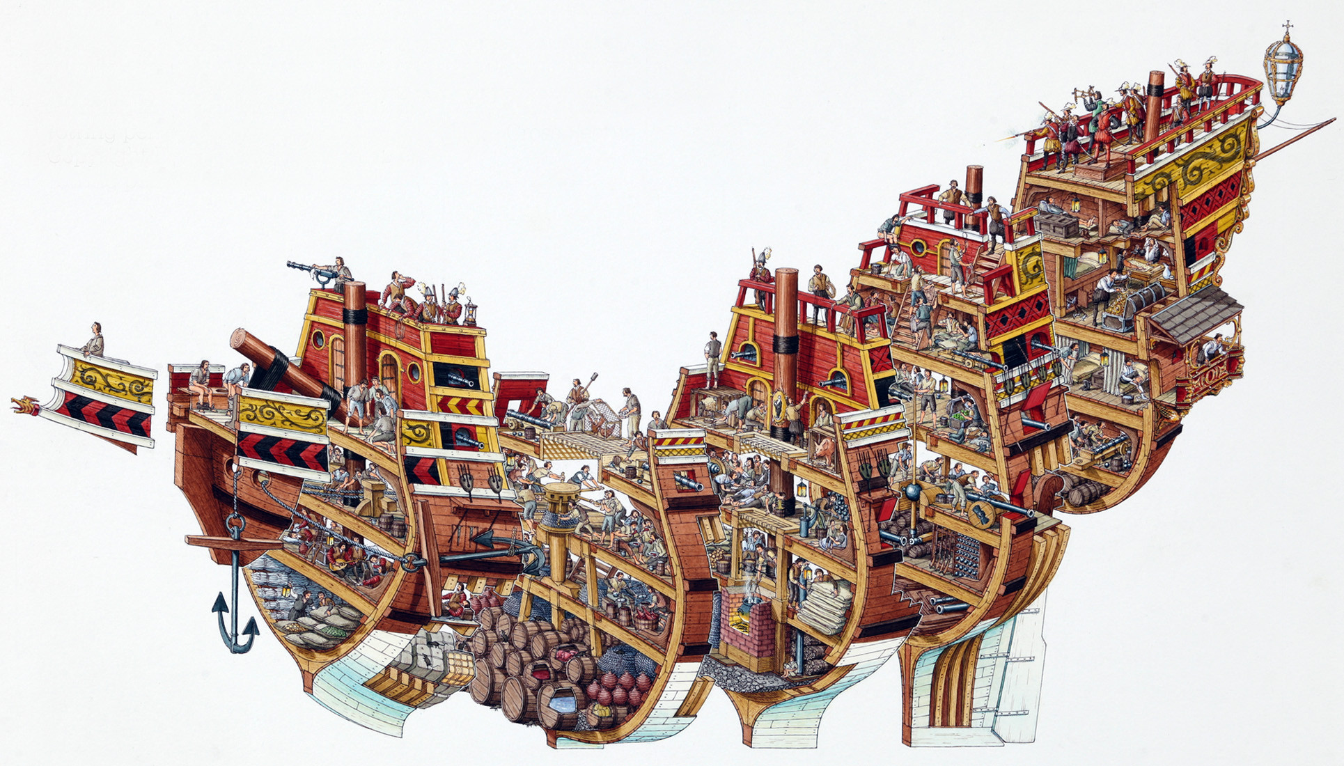Pirates Doubtfulsea Ship Diagram With Labels Google Search Pirate Ships Hidxztr