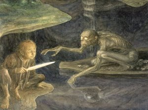 Alan Lee - The Hobbit - 19 - Riddles in the dark