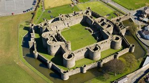 Beaumaris Aerial North Castles Historic Sites