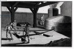 Bell Making, from the 'Encyclopedia' by Denis Diderot (1713-84) 1751-72 (engraving) (b/w photo)