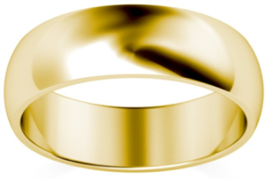 Heavy-6mm-D-Shape-18k-Yellow-Gold-Wedding-Ring