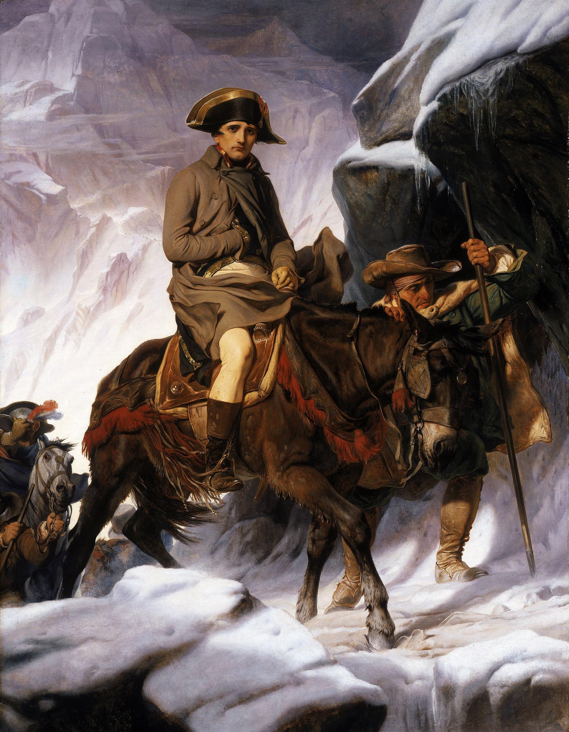 napoleon  paul delaroche napoleon crossing the alps google art project 2