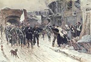 The-Entrance-Into-Belfort-Of-The-German-Commander-Bearing-The-Flag-Of-Truce-4th-November-1870-1884