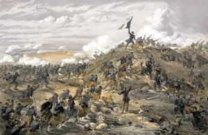 William Simpson - The Attack on the Malakoff 1855