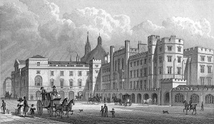 Old Houses of Parliament, Palace of Westminster, London: the Parliament House from Old Palace Yard