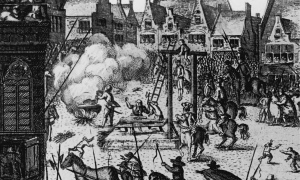 Execution of Guy Fawkes for treason, 1606
