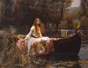 The Lady of Shalott 1888 by John William Waterhouse 1849-1917