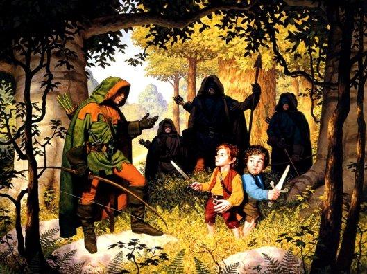 Tim Hildebrandt - Faramir rencontre Frodon et Sam (2).jpg
