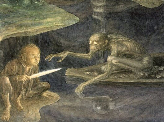 Alan Lee - The Hobbit - 19 - Riddles in the dark.jpg
