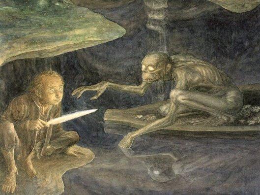 Alan Lee - The Hobbit - 19 - Riddles in the dark.jpg