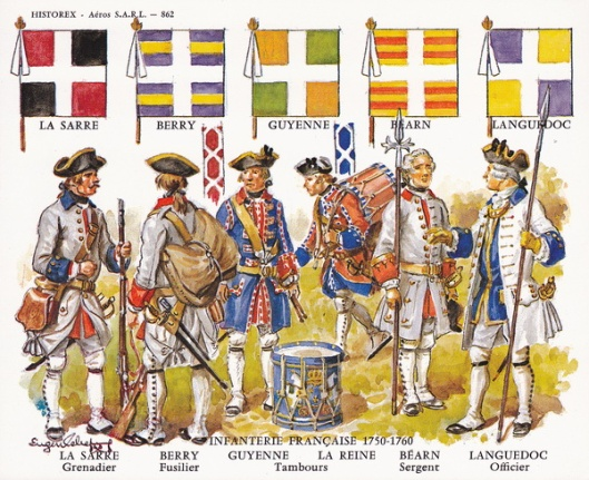 Historex Card 862 French Infantry 1750 - 1760