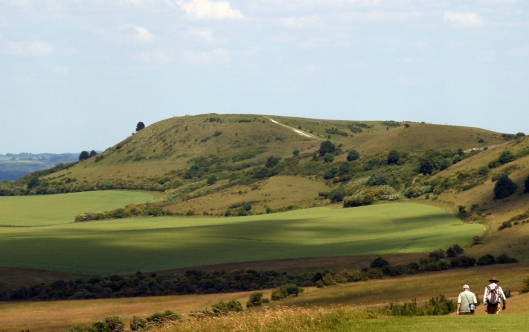Ivinghoe Beacon seen looking north from The Ridgeway.