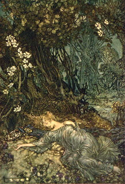 arthur-rackham-midsummer-nights-dream-titania-sleeping