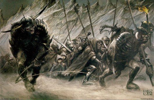John Howe - Merry et Pippin prisonniers des orcs.jpg