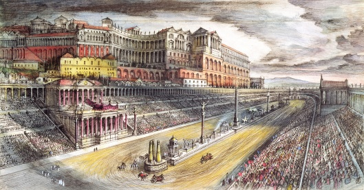 Imperial Rome: Circus Maximus (pen & ink and pencil on paper)