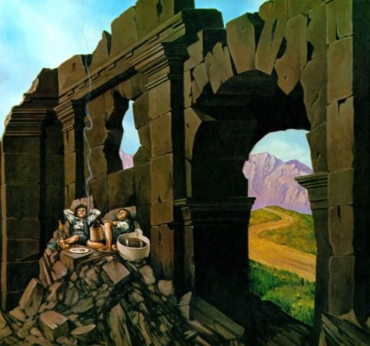 Michael-Herring-Restos-y-despojos-Calendario-Tolkien-1980