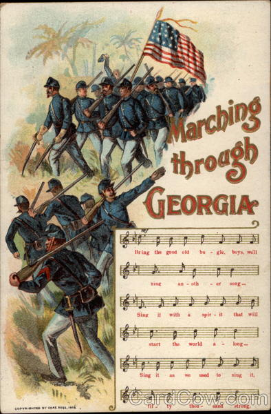 Marching Through Georgia Music and Lyrics