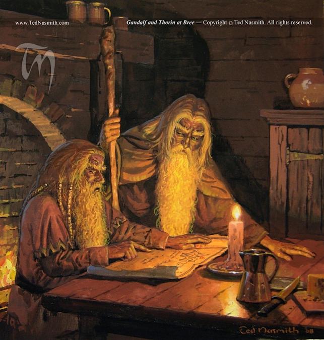 3. NasmithΓÇöGandalf and Thorin at Bree.jpg