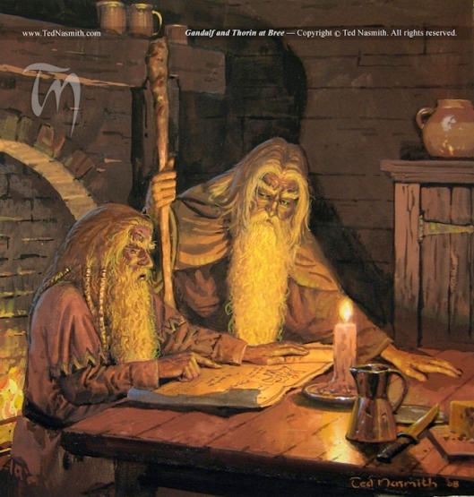 3. NasmithΓÇöGandalf and Thorin at Bree.jpg